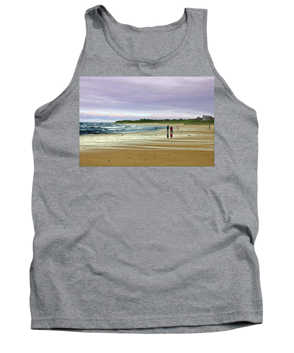 Storm Tank Top featuring the digital art Walking The Dog After A Storm by William Sargent