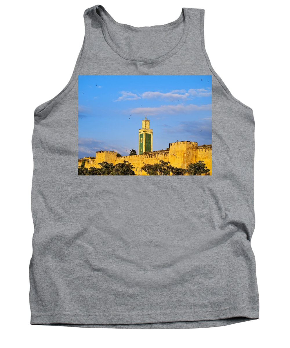 Africa Tank Top featuring the photograph Walls Of Meknes In Morocco by Karol Kozlowski