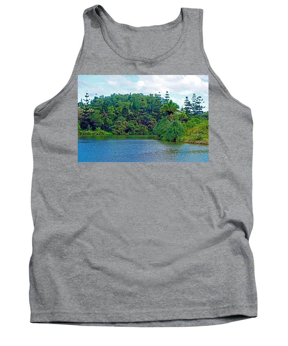 Waoleke Pond Tank Top featuring the photograph Waoleke Pond Forest by Robert Meyers-Lussier