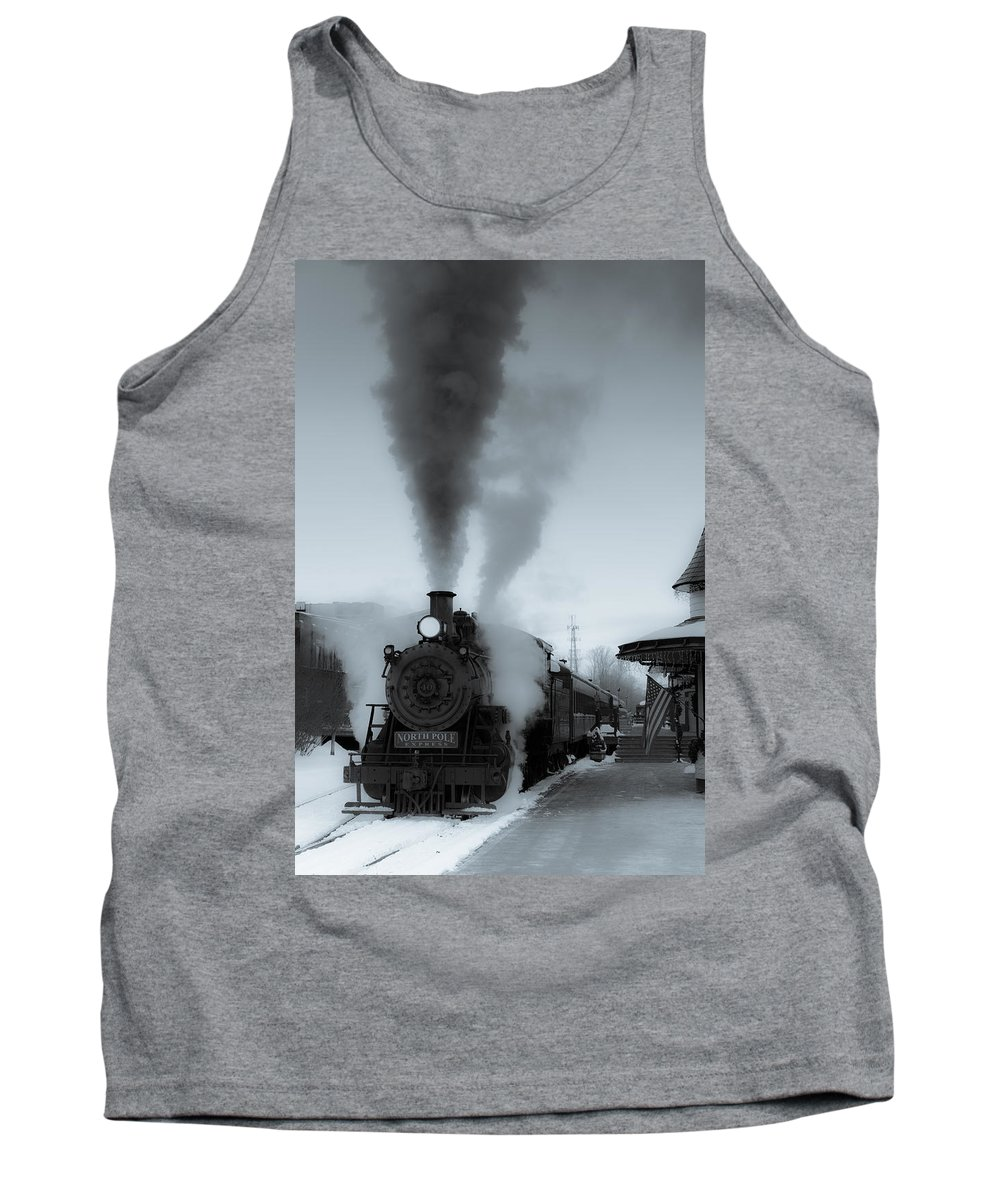 Steam Tank Top featuring the photograph Warmth In The Cold by Scott Hafer