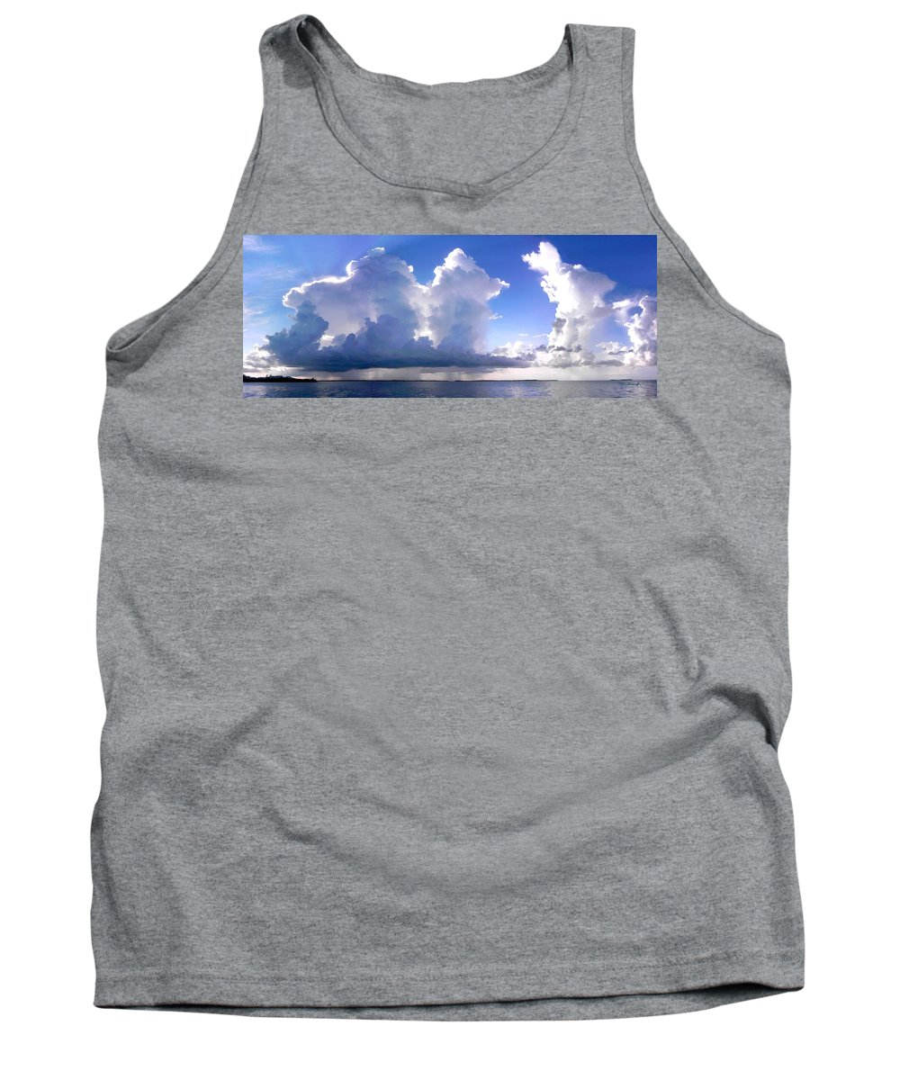 Thunderstorms Tank Top featuring the photograph Waterfalls Over Florida Bay Filtered by Duane McCullough