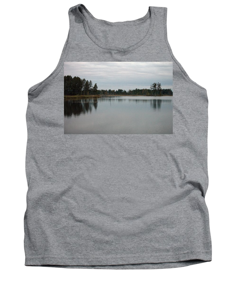 Nature Tank Top featuring the photograph Water's Calm by Linda Kerkau