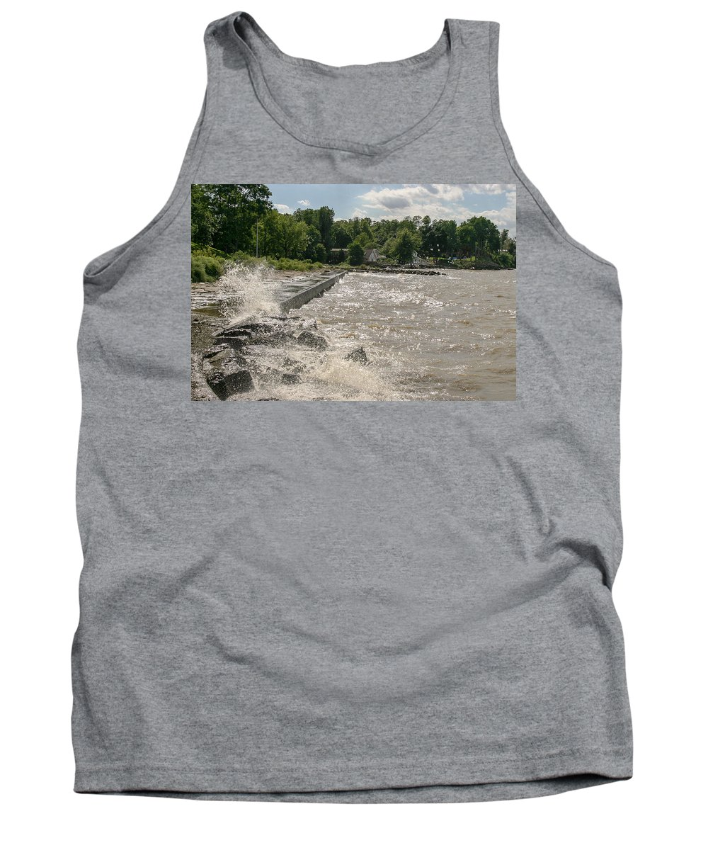 Waves Tank Top featuring the photograph Waves Crashing by Lou Cardinale