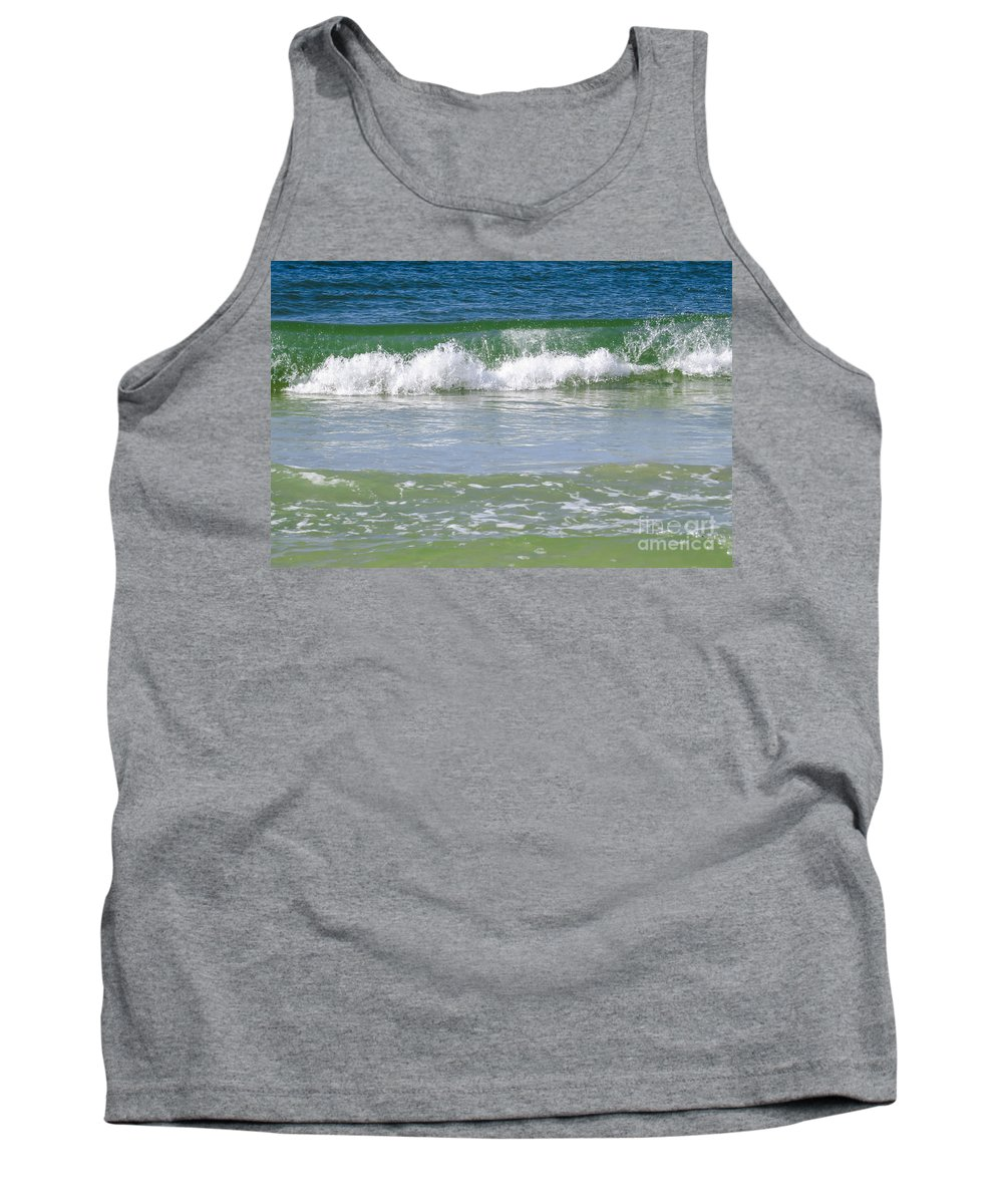 Gulf Tank Top featuring the photograph Waves Of The Gulf Of Mexico by Zina Stromberg