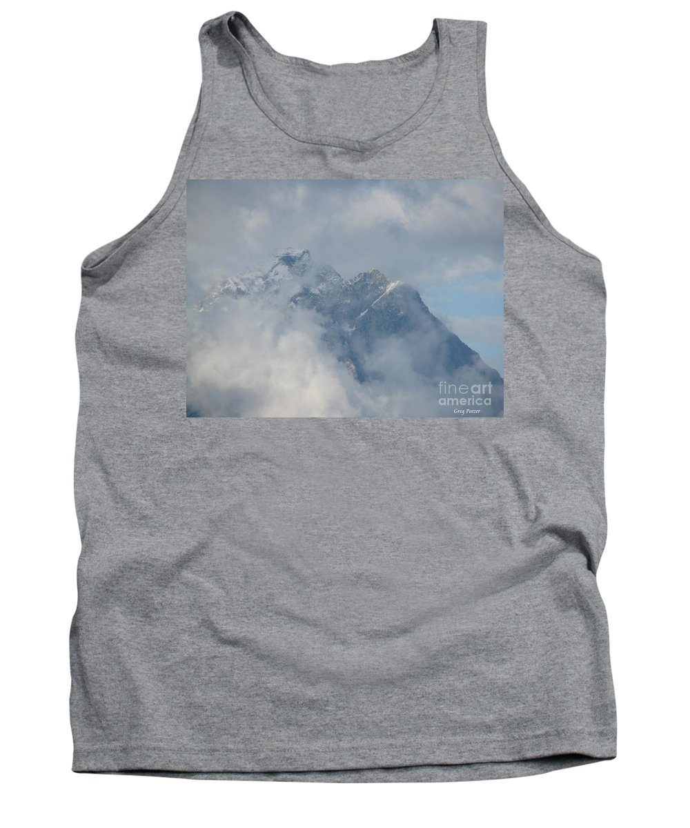 Patzer Tank Top featuring the photograph Way Up Here by Greg Patzer
