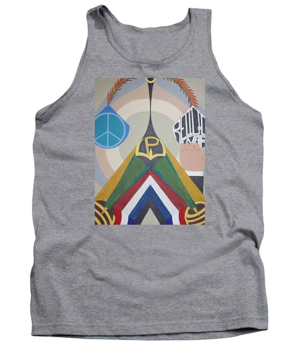 Peace Tank Top featuring the painting Weighing Peace by Dean Stephens