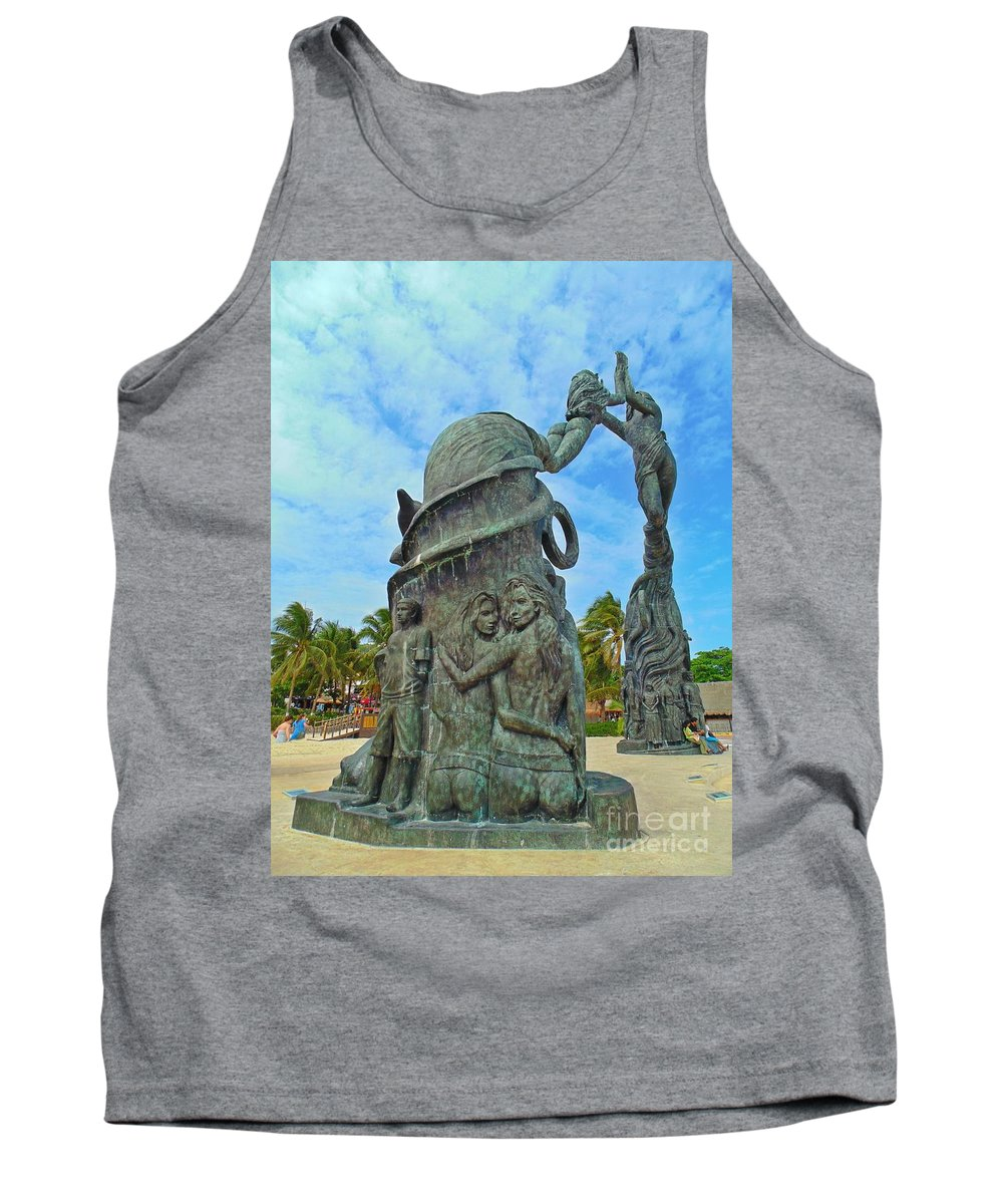 Welcome To Playa Del Carmen Mexico Tank Top featuring the photograph Welcome To Playa Del Carmen Mexico by John Malone