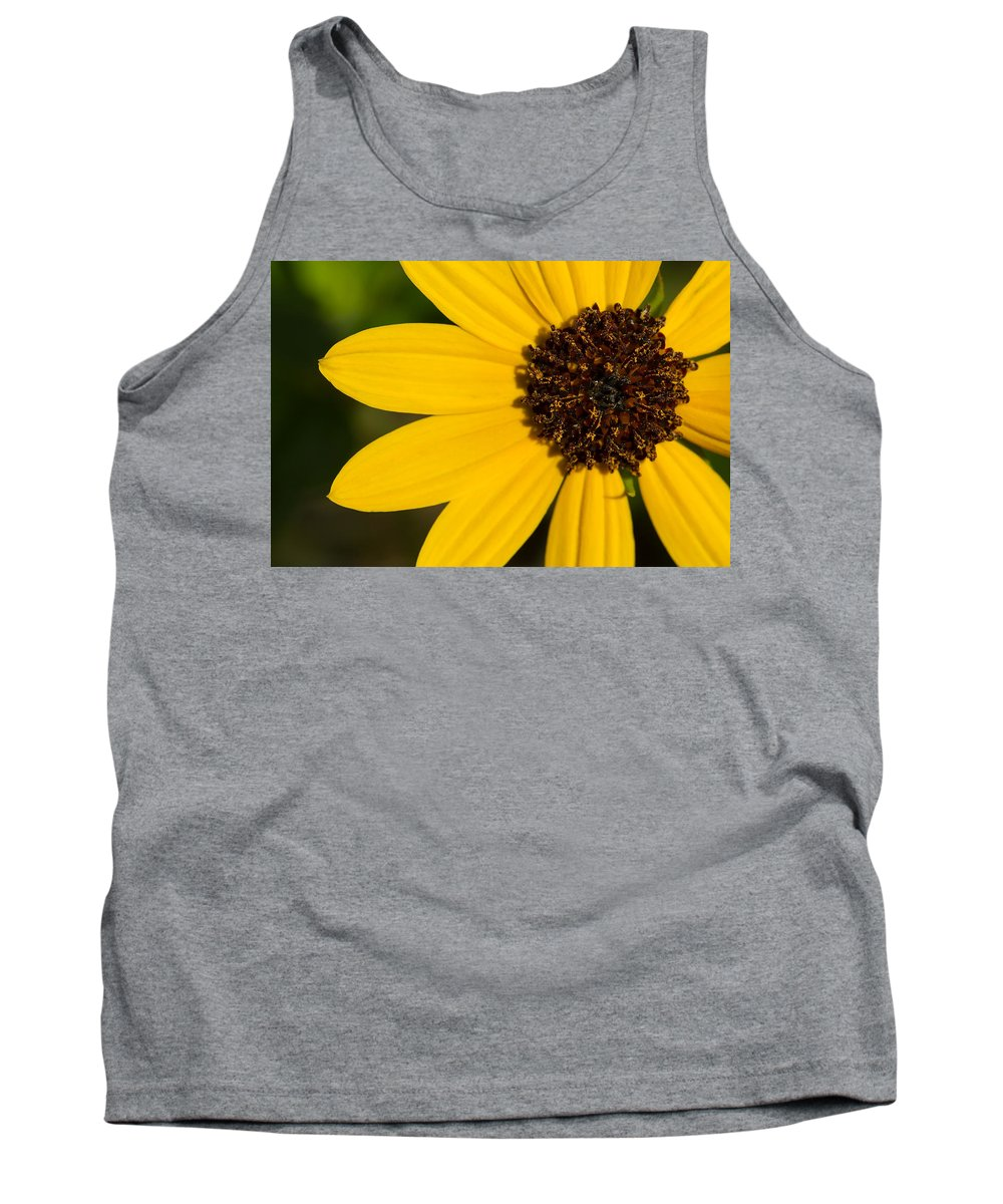 Sunflower Tank Top featuring the photograph West Coast Dune Sunflower by Paul Rebmann
