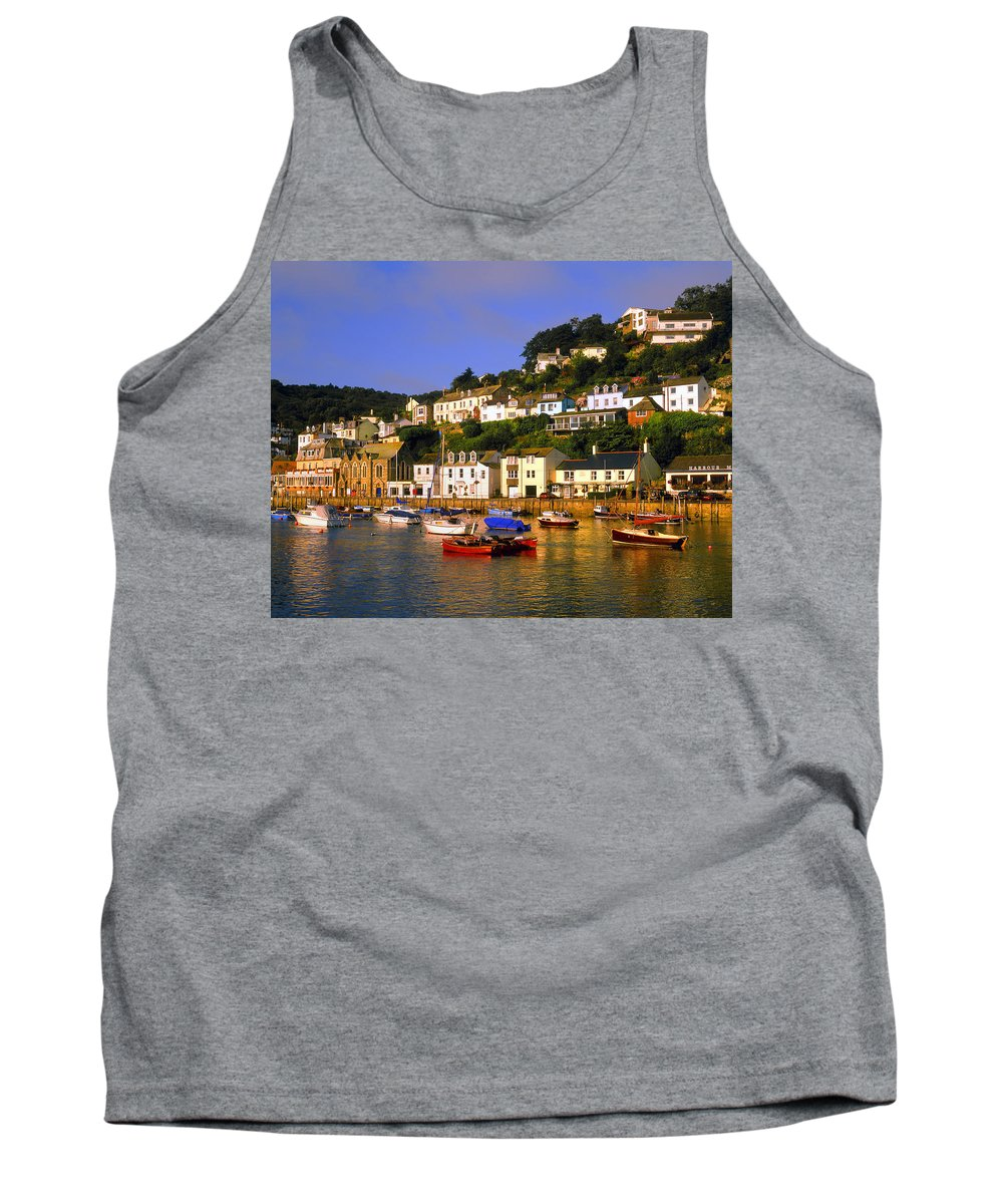 Looe Tank Top featuring the photograph West Looe by Darren Galpin