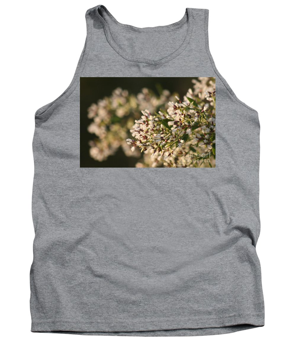 White Tank Top featuring the photograph White Flowers by Nadine Rippelmeyer