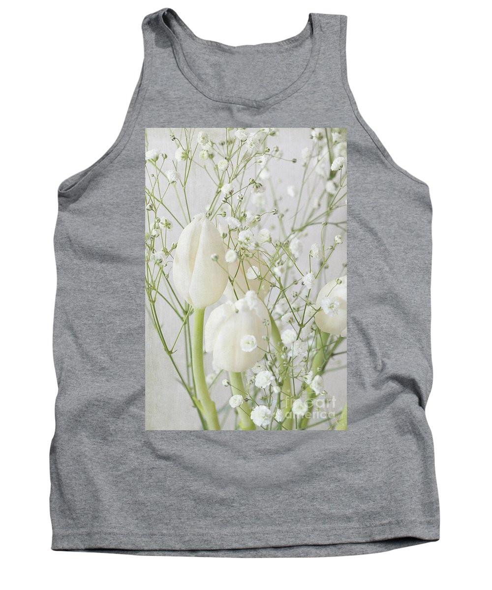 White Flowers Tank Top featuring the photograph White Flowers Pii by Jacqueline Moore