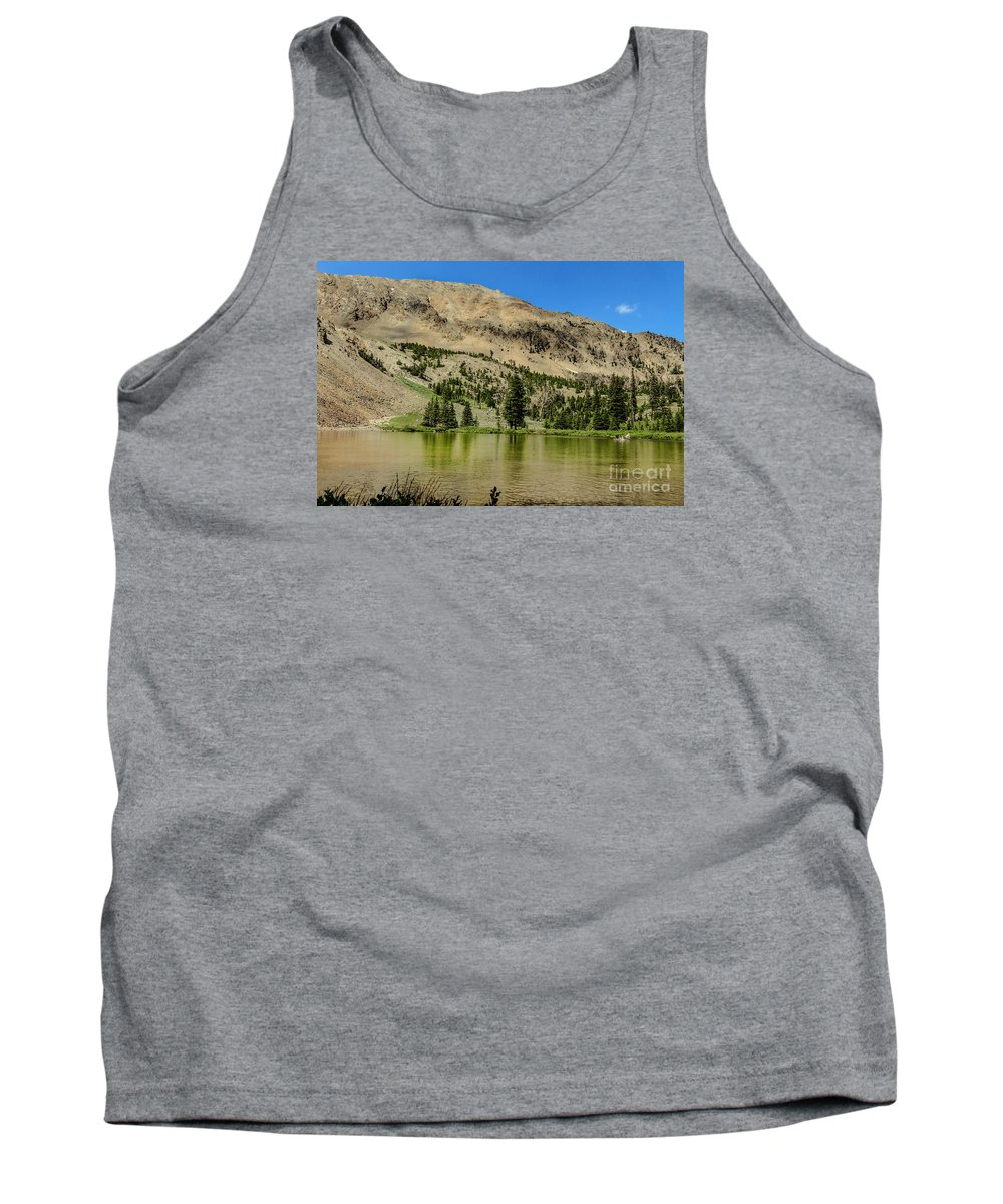 Travel Tank Top featuring the photograph White Knob Mountain Lake by Robert Bales