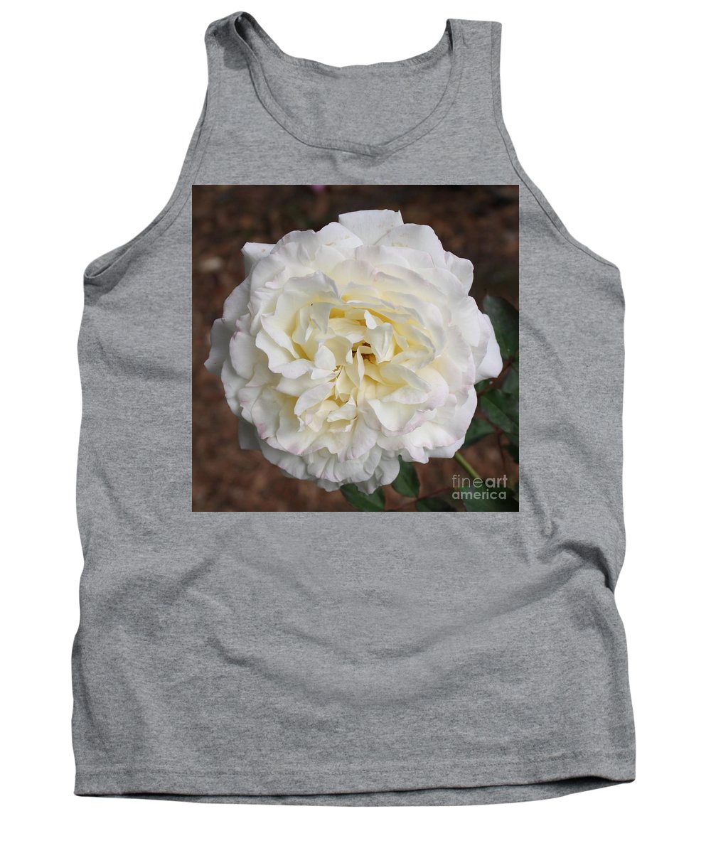 White Rose Tank Top featuring the photograph White Rose Square by Carol Groenen