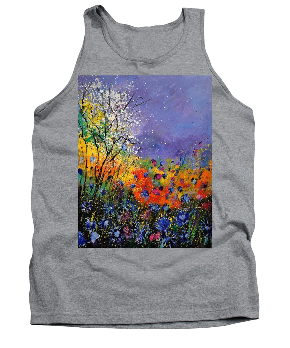 Landscape Tank Top featuring the painting Wild Flowers 4110 by Pol Ledent