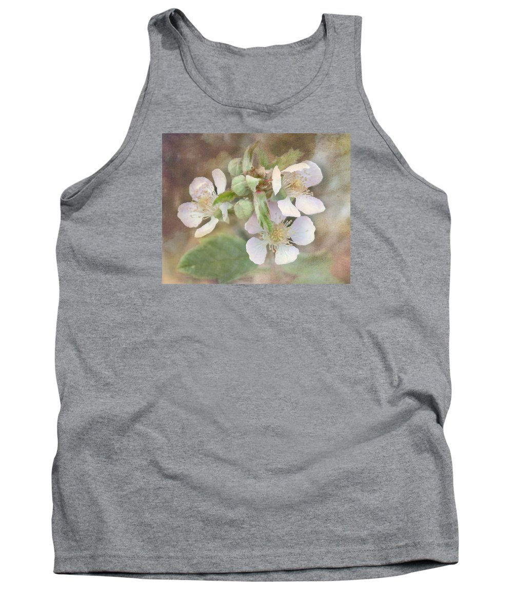 Flowers Tank Top featuring the photograph Wild Roses - Digital Paint by TN Fairey