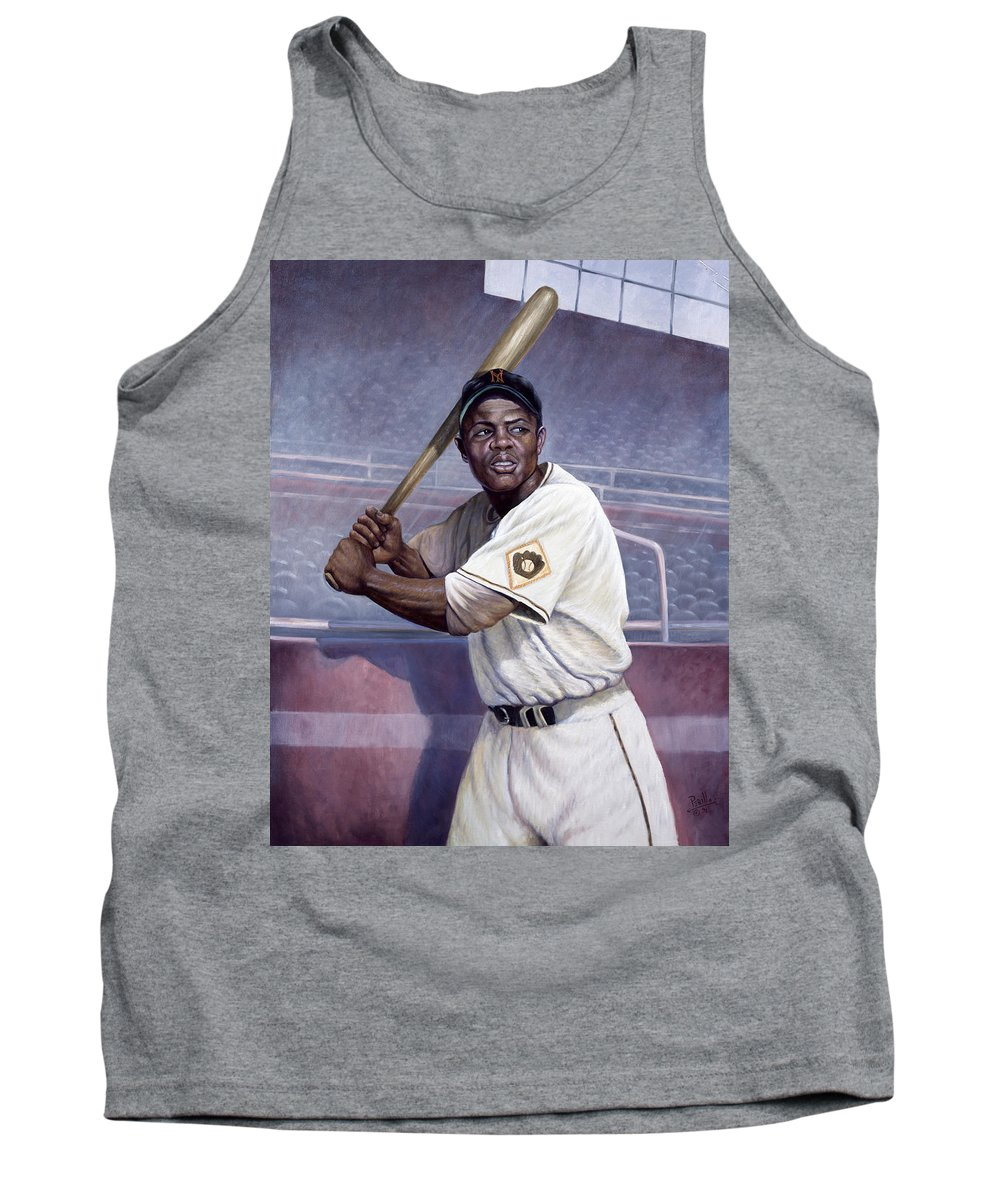Tank Top featuring the painting Willie Mays by Gregory Perillo