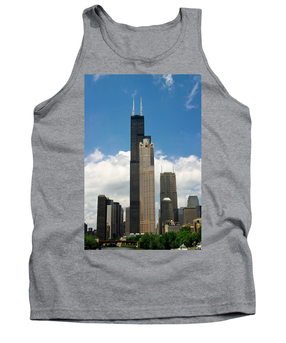3scape Tank Top featuring the photograph Willis Tower Aka Sears Tower by Adam Romanowicz