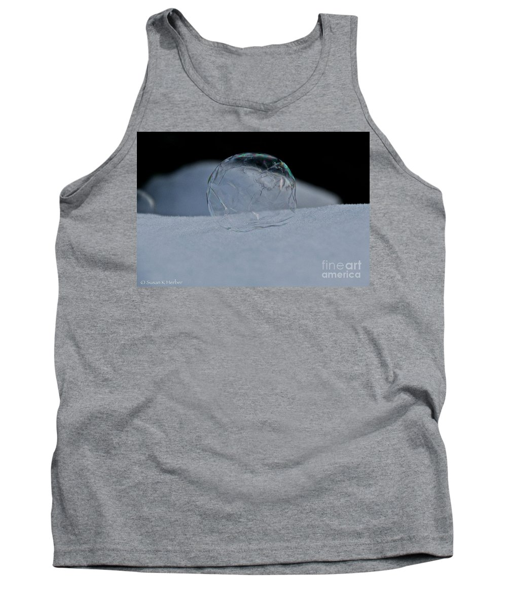 Outdoors Tank Top featuring the photograph Wilted Ice by Susan Herber