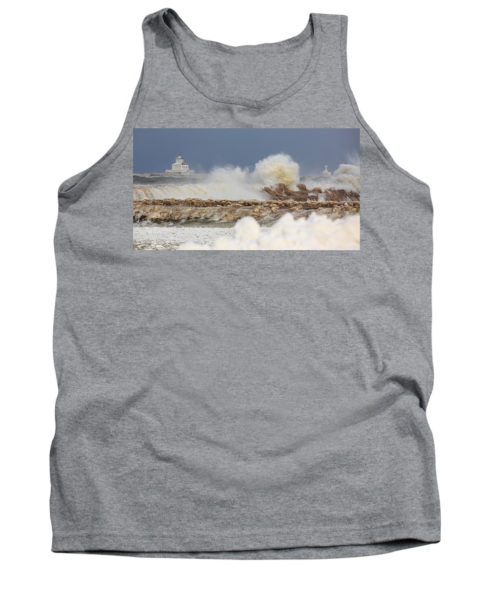 Lighthouse Tank Top featuring the photograph Wind And Ice by Everet Regal