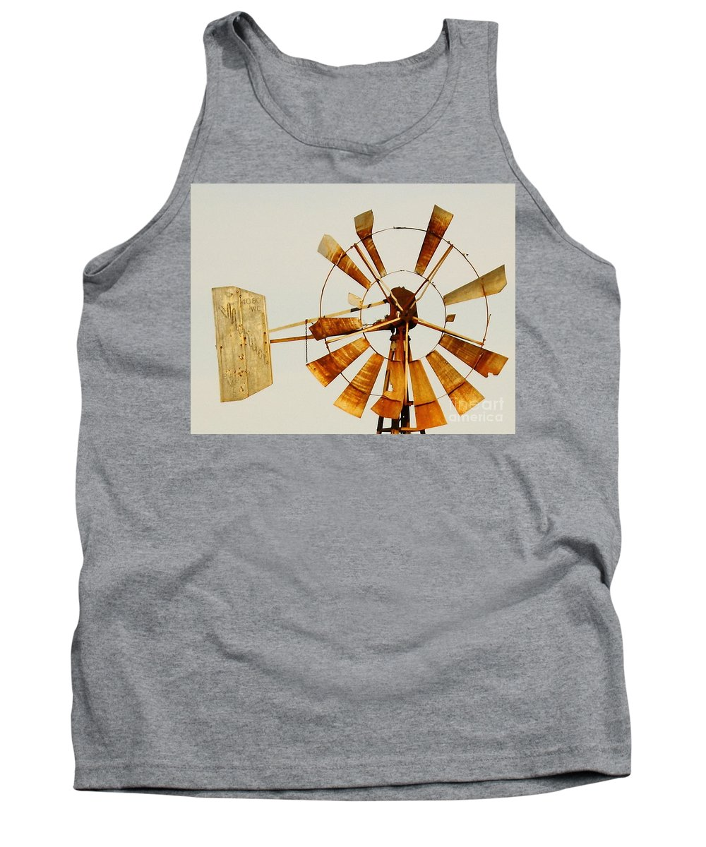 Aermotor Tank Top featuring the photograph Wind Driven Rust Machine by Robert Frederick
