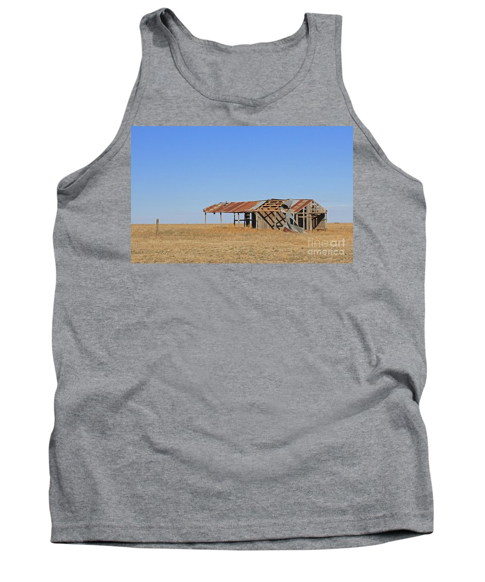 Texas Tank Top featuring the photograph Windblown Barn by Ashley M Conger