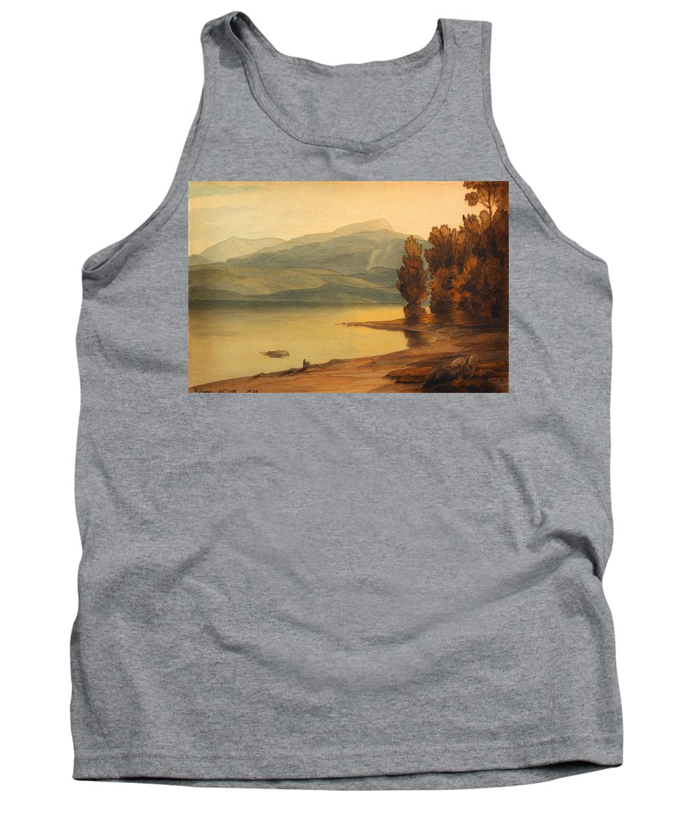 Windermere At Sunset Tank Top featuring the painting Windermere At Sunset by Celestial Images