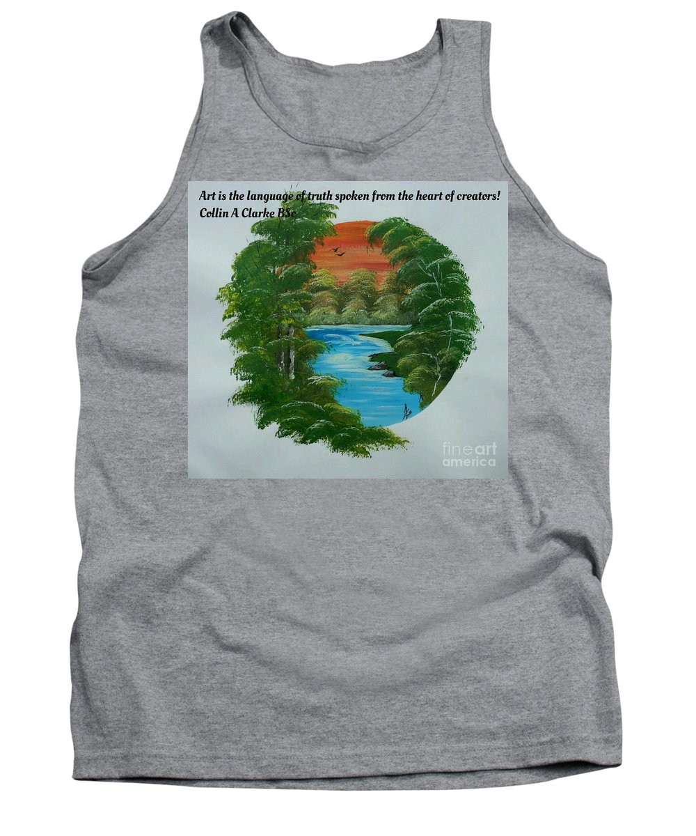 Paintings Tank Top featuring the painting Window Of Peace Quotes by Collin A Clarke