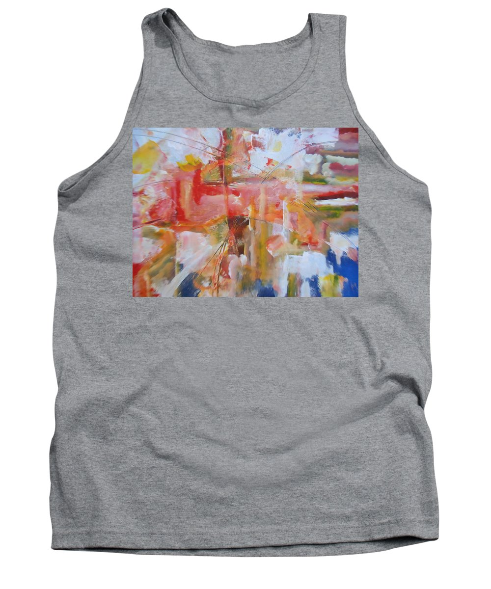 Abstract Tank Top featuring the painting Wings Of Tomorrow by Lord Frederick Lyle Morris