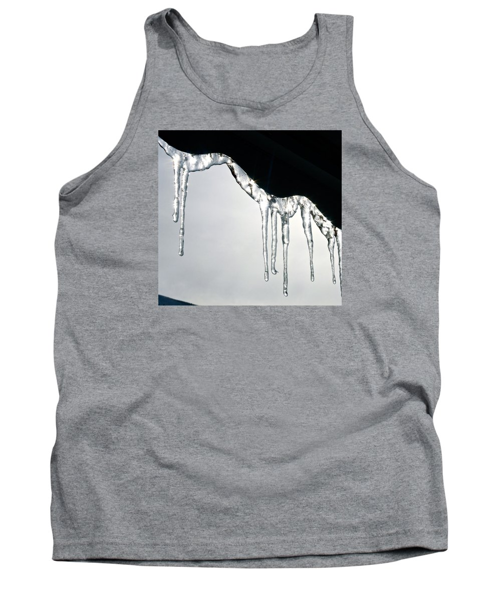 Winter Tank Top featuring the photograph Winter Lace by Yelena Tylkina