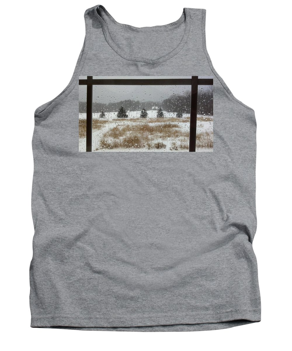 Rain Tank Top featuring the photograph Winter Rain by Lisa Wormell