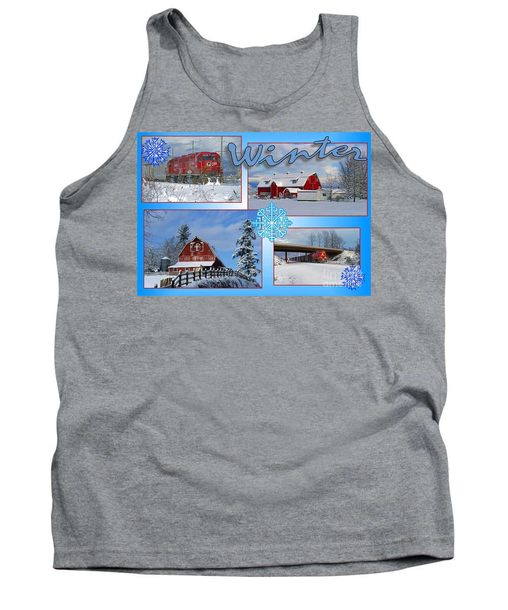 Winter Tank Top featuring the photograph Winter Scenes by Randy Harris