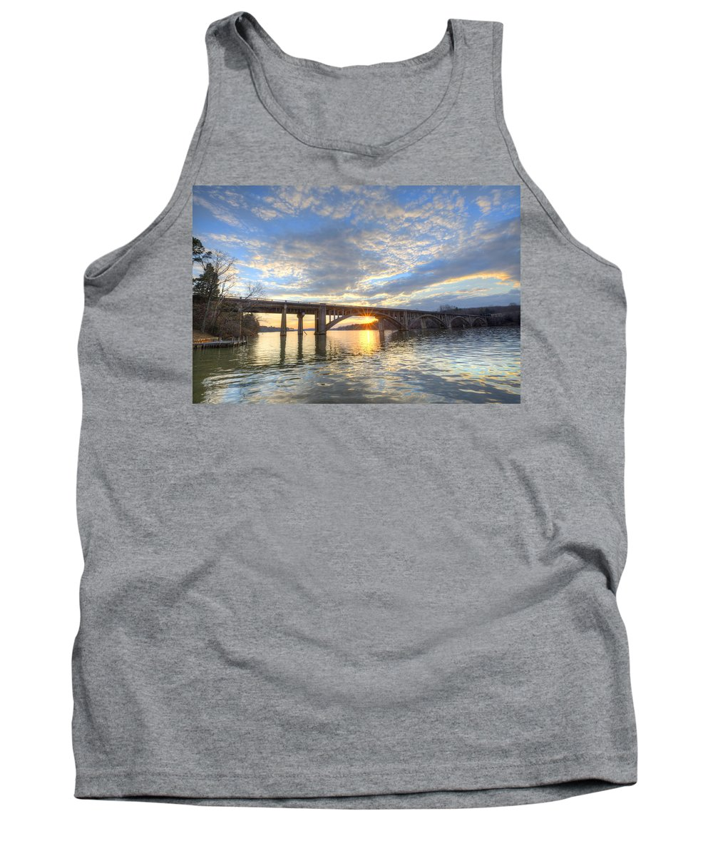 Lake Tank Top featuring the photograph Winter's Sunset by Jackie Frick Smith