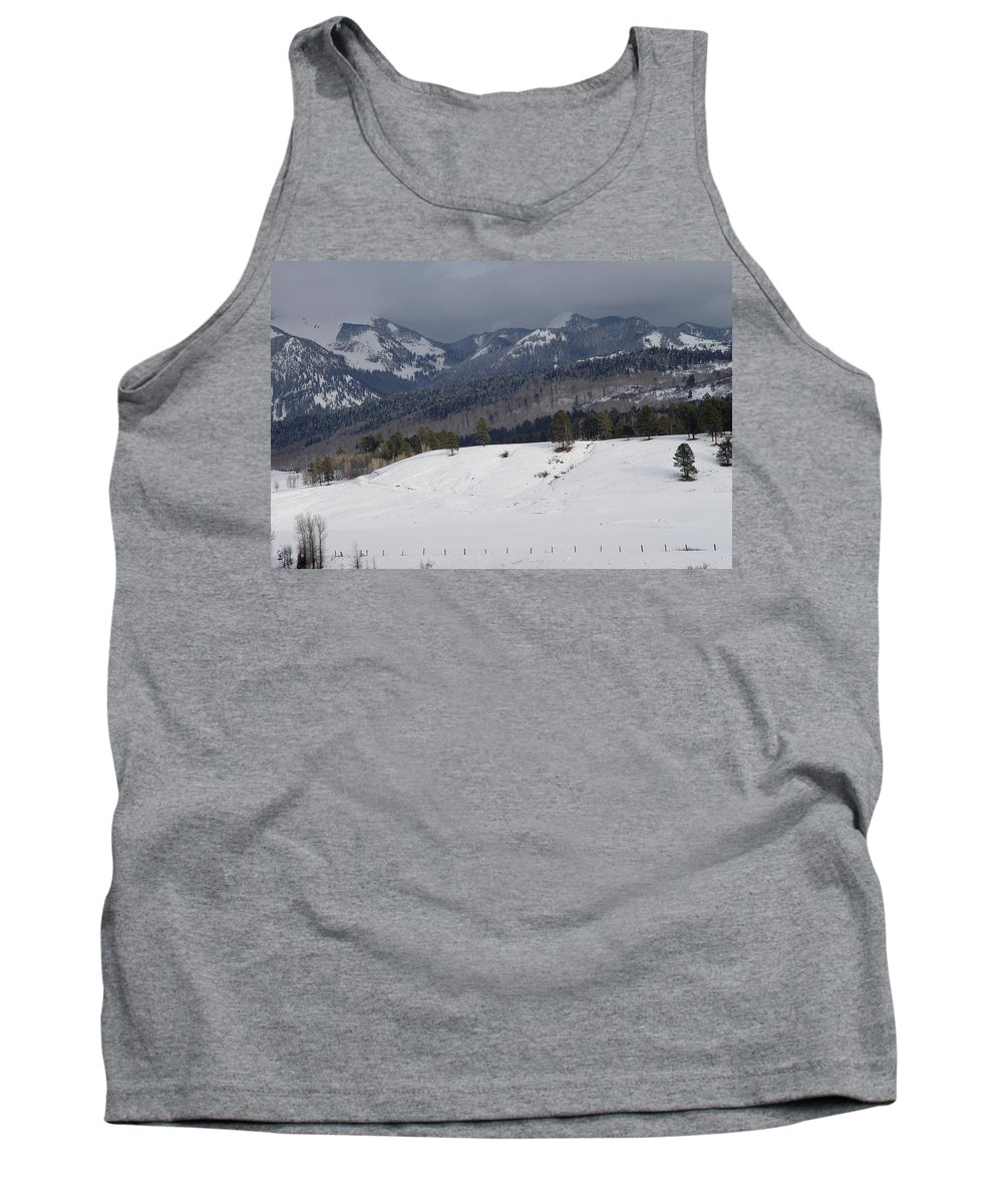 Nature Tank Top featuring the photograph Winterscape by Noa Mohlabane