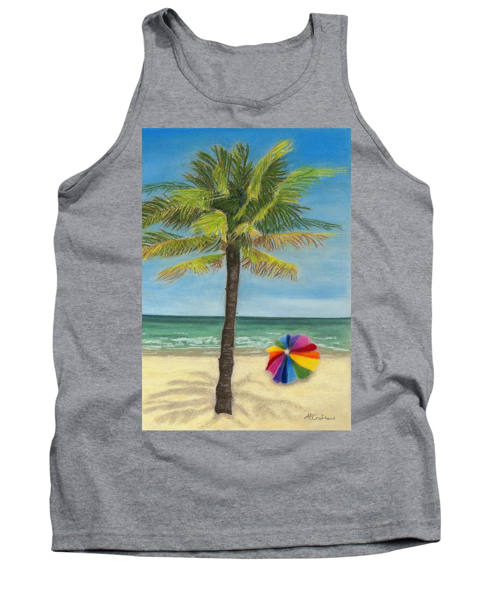 Beach Tank Top featuring the painting Wish I Was There by Arlene Crafton