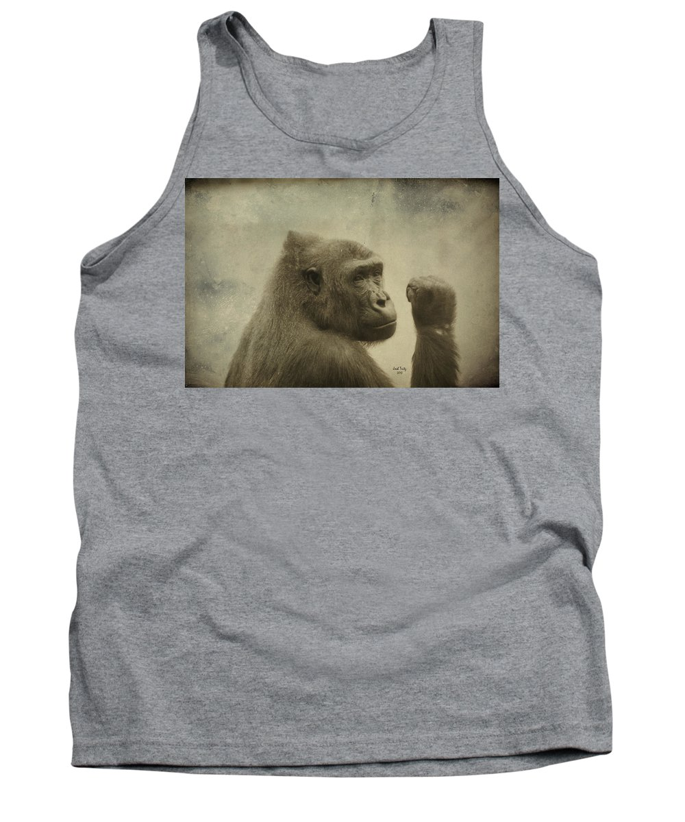 Monkey Tank Top featuring the photograph Women Rule by Trish Tritz
