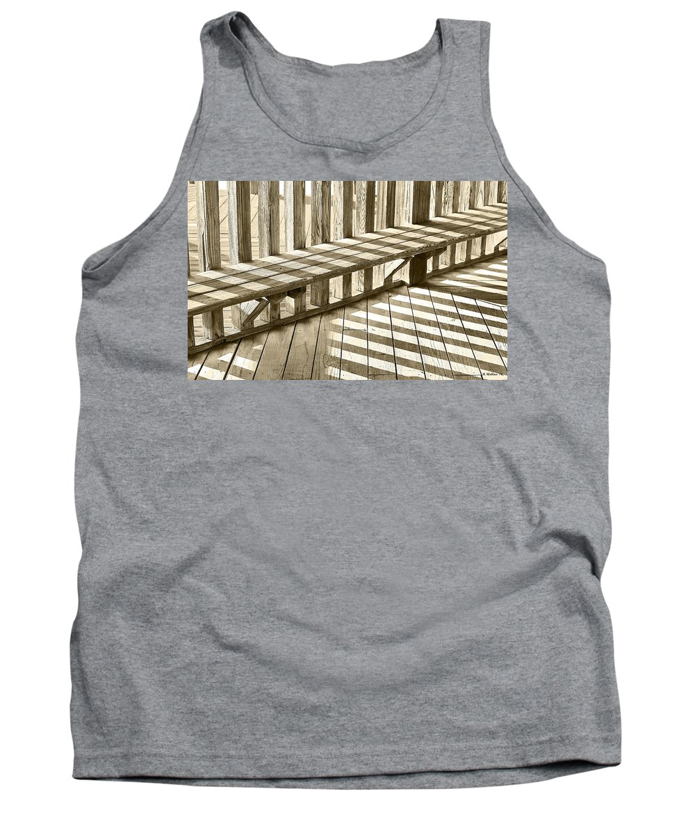 2d Tank Top featuring the photograph Wooden Lines - Semi Abstract by Brian Wallace
