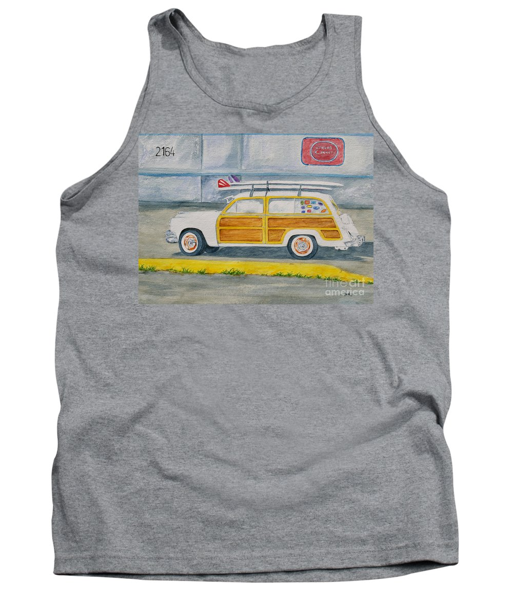 Woody Paintings Tank Top featuring the painting Woody by Regan J Smith