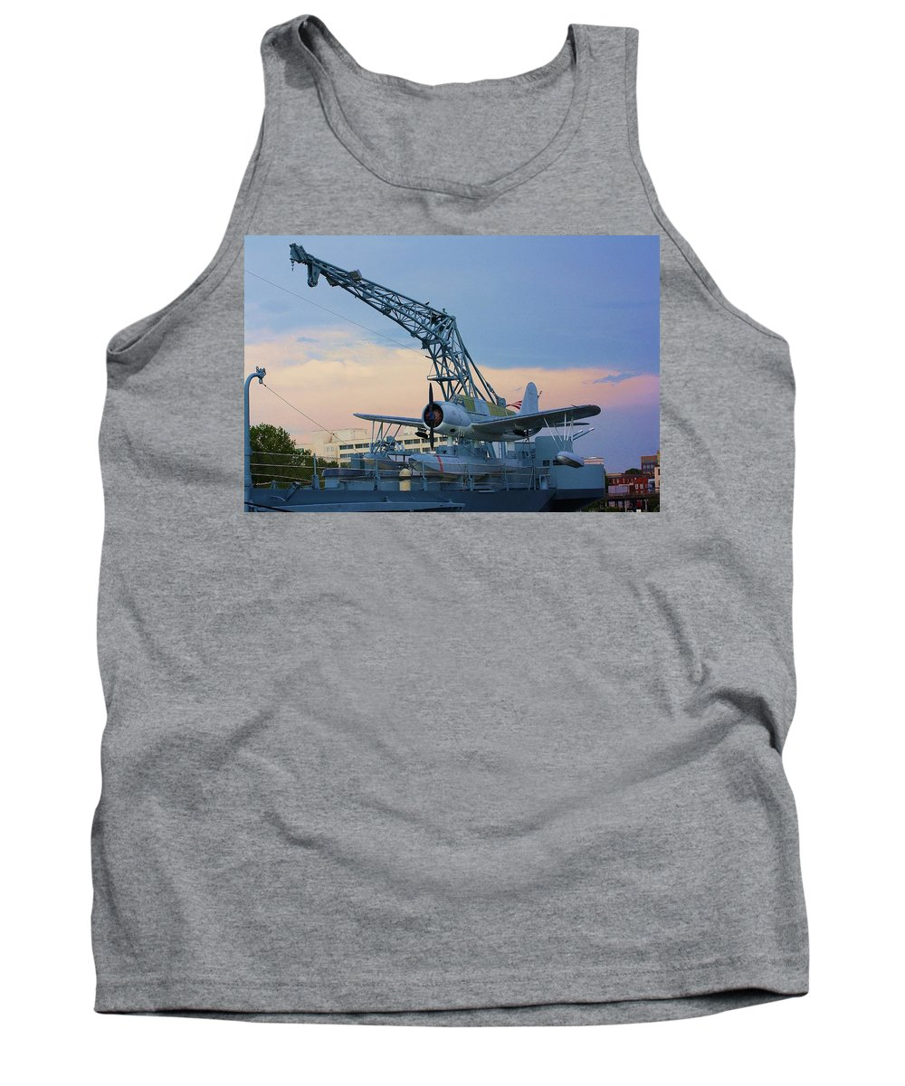 World War Ii Tank Top featuring the photograph Ww II Sea Plane by Chuck Hicks