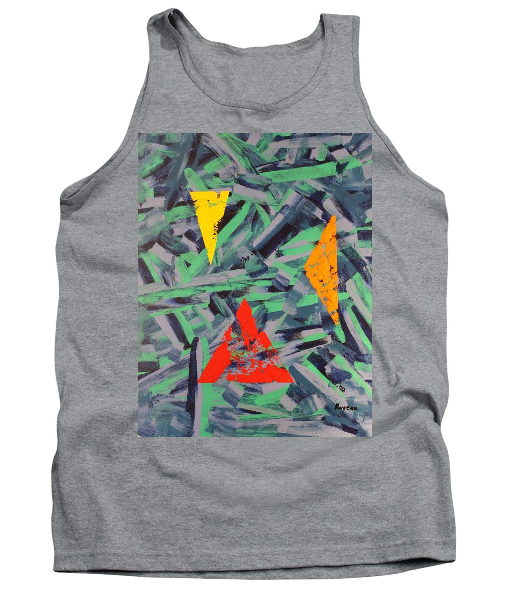Abstract Tank Top featuring the painting You Missed The Point by David Mayeau