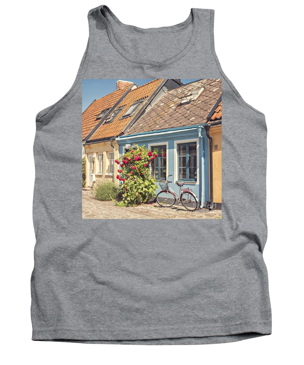 Ystad Tank Top featuring the photograph Ystad Cottages by Sophie McAulay