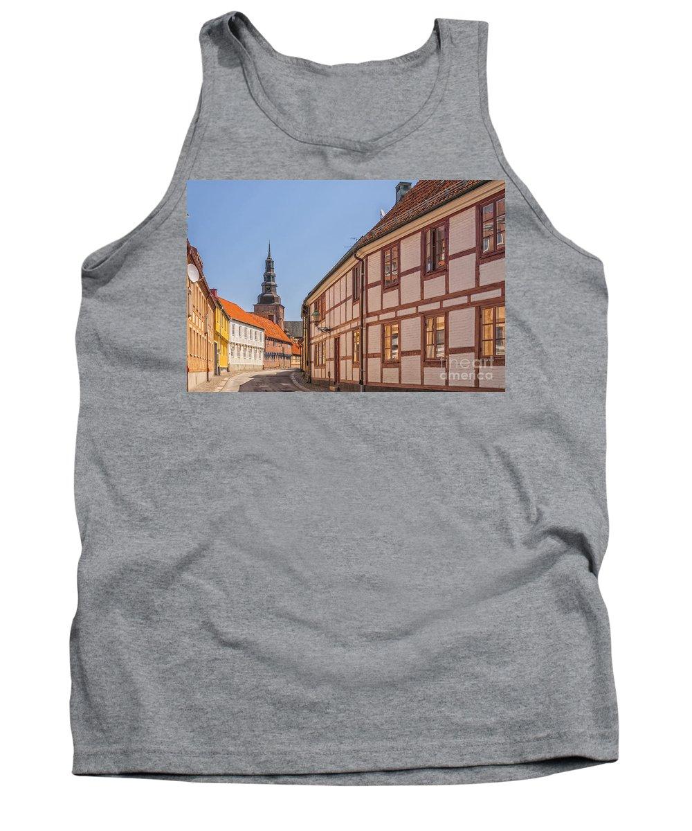 House Tank Top featuring the photograph Ystad Crescent Street by Antony McAulay