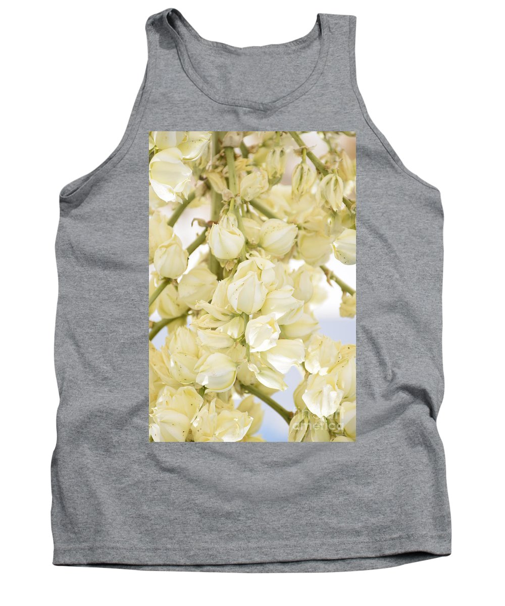 Yucca Flowers Tank Top featuring the photograph Yucca by Shar Schermer