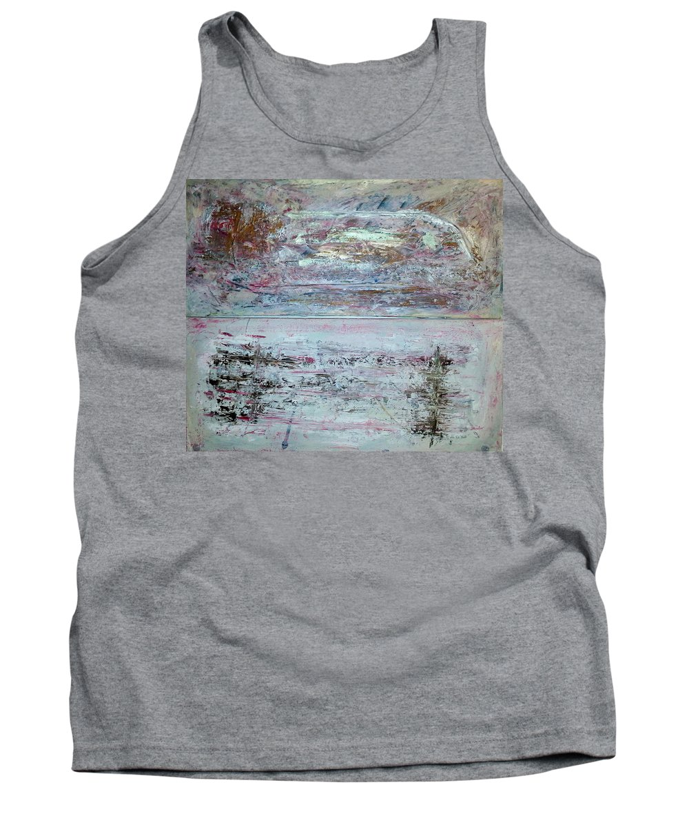 Abstract Painting Tank Top featuring the painting Z5 by Kunst mit Herz Art with Heart