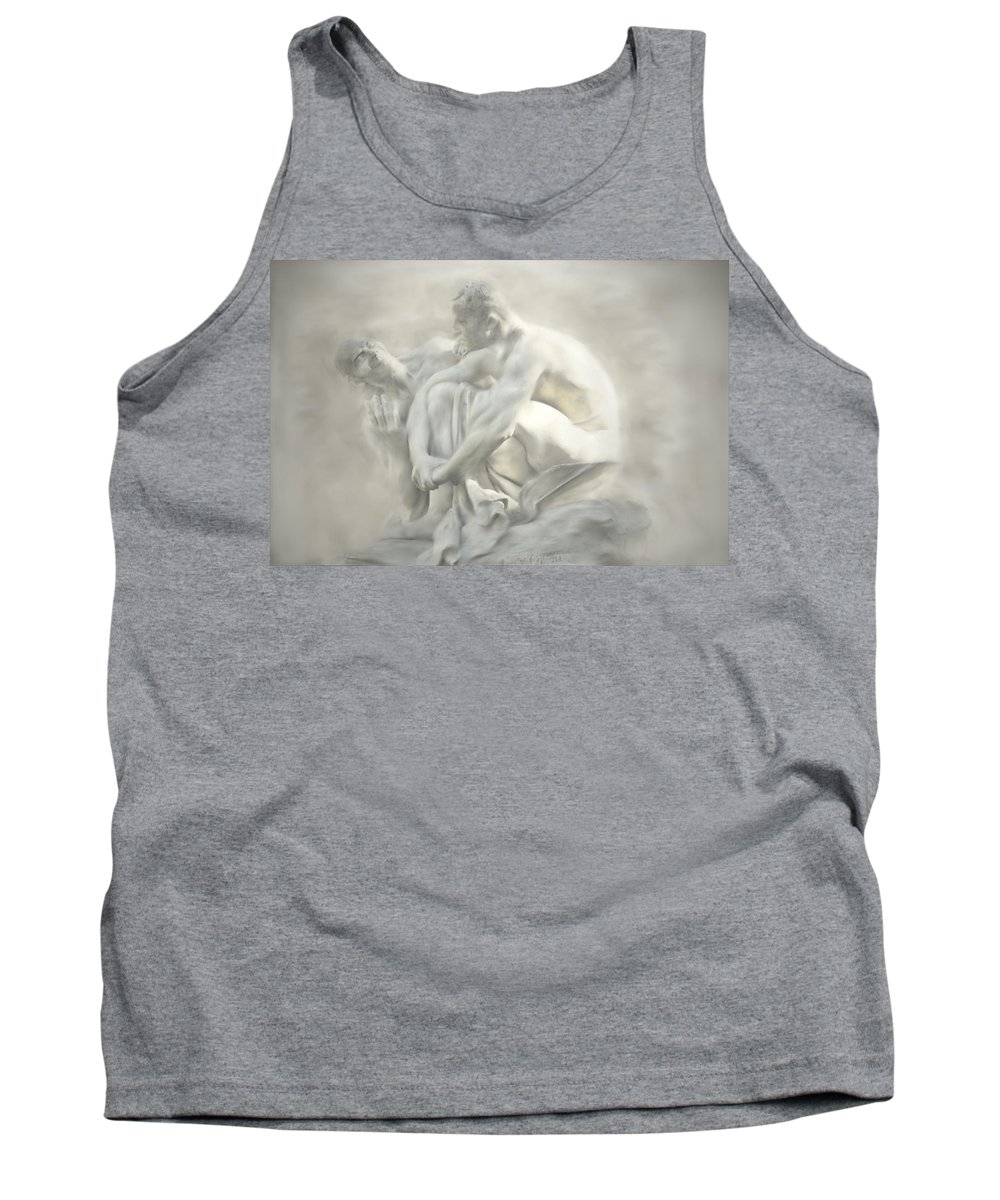 Discussion Tank Top featuring the digital art Brain Storming by Diane Dugas