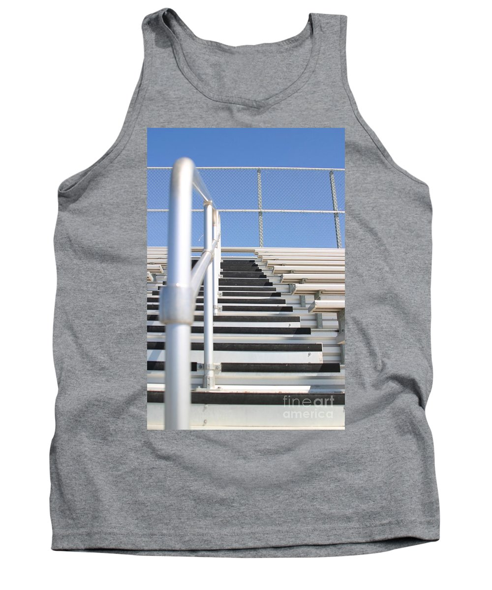 Aluminum Tank Top featuring the photograph Bleachers by Henrik Lehnerer