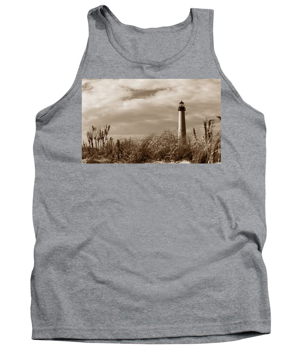 Cape May Tank Top featuring the photograph Cape May Lighthouse by Skip Willits