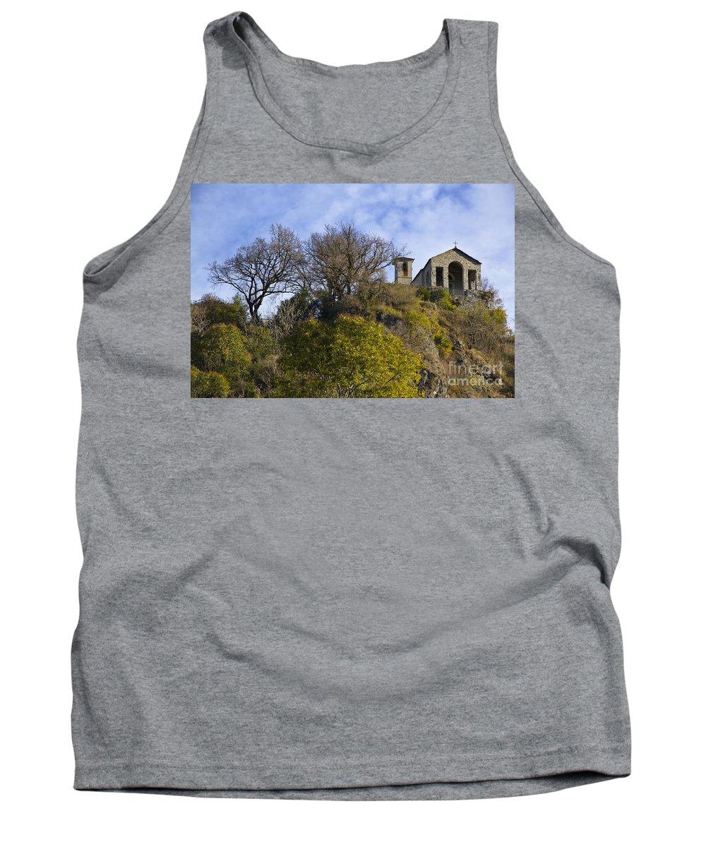 Church Tank Top featuring the photograph Church On A Hill by Mats Silvan