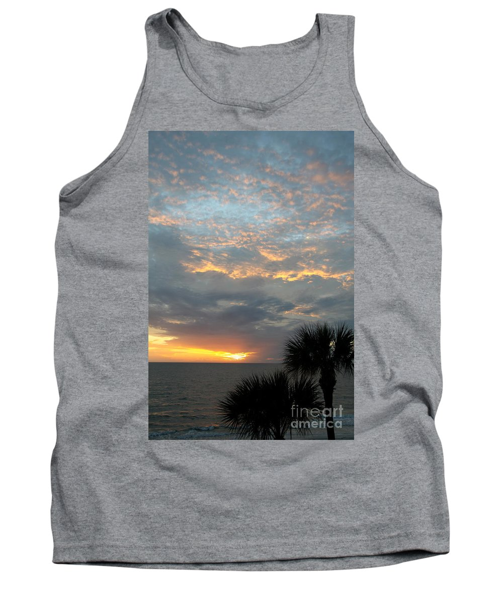Fiery Sky Tank Top featuring the photograph Fiery Sky by Christiane Schulze Art And Photography