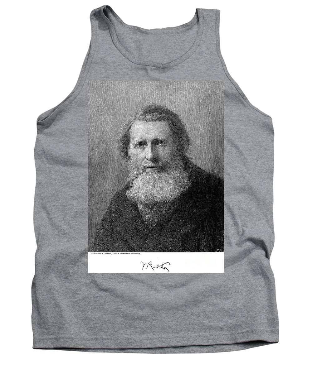 19th Century Tank Top featuring the photograph John Ruskin (1819-1900) by Granger
