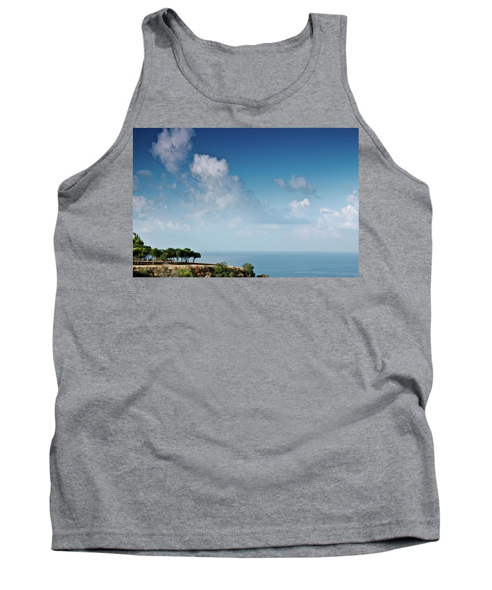 Clouds Tank Top featuring the photograph Mediterranean Landscape by Michael Goyberg